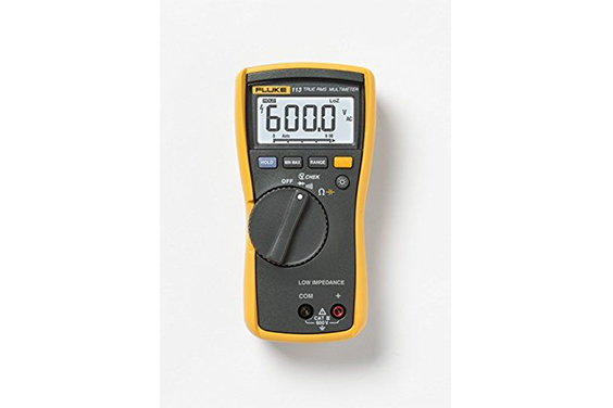 Multimeter used to measure voltage